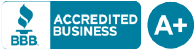 BBB Accredited Business logo with A+ ranking
